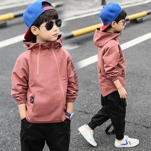 Image 2 - Ropa de primavera para niños, chaqueta Lisa para adolescentes, abrigo informal, tops para niños de 3 a 111
