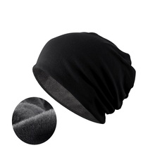 NUZADA Brand Solid Color Warm Hat Plus Fluff Cap Men Women Bonnet Skullies Beanies Knitted Hats Double Layer Fabric Winter Caps