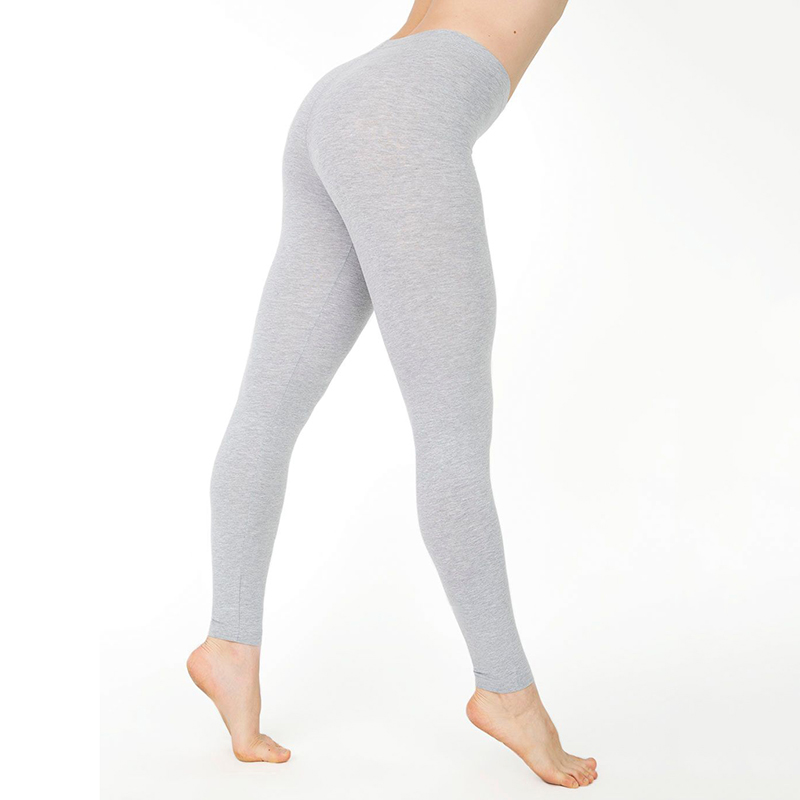 da1571f4f30898 Casual Cotton Full Length Leggings for Women Knitted Pants Stretchy Solid  Color Mid Waist Legging -in Leggings from Women's Clothing & Accessories on  ...