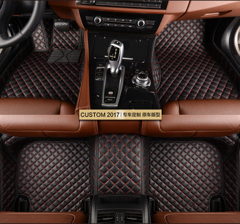 Custom Car Floor Mats for Fiat Bravo Fiat 500 2011 2012 Freemont Car Interior Accessories Floor Protection Rugs Car Carpets J632