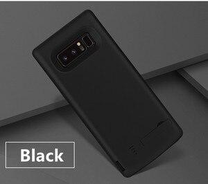 Image 1 - Pil şarj cihazı Vaka 6500 mah Samsung Galaxy Note 8 Için Yumuşak TPU Şarj Telefon Güç Kapak Için Samsung not 8 pil kılıf
