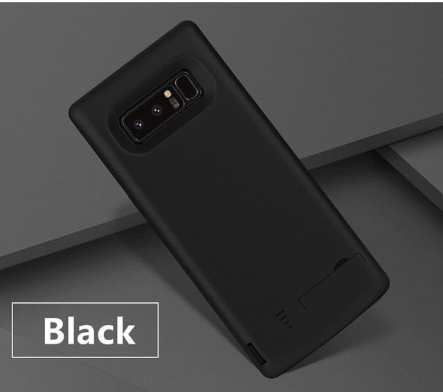 Pil şarj cihazı Vaka 6500 mah Samsung Galaxy Note 8 Için Yumuşak TPU Şarj Telefon Güç Kapak Için Samsung not 8 pil kılıf