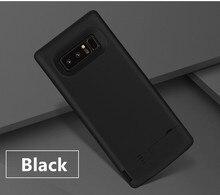 Przypadku ładowarki baterii 6500 mah dla Samsung Galaxy uwaga 8 miękka TPU ładowania zasilania telefonu pokrywa dla Samsung uwaga 8 pojemnik na baterie