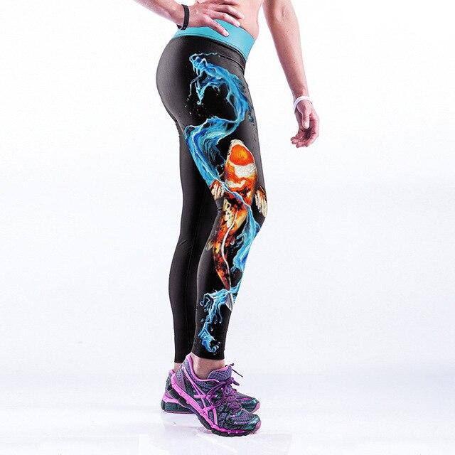 e4501f7a72967 Water Goldfish 3D Print High Waist Fitness Legging Black Milk Wear Super  Soft For Women Gothic Clothing Leggings 2017 Fashion
