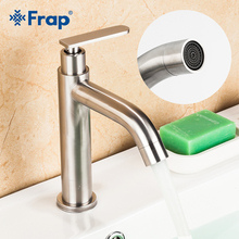 Frap Basin faucet single cold water tap bathroom faucet 304 stainless steel deck mounted water tap Torneira para banheiro Y10177