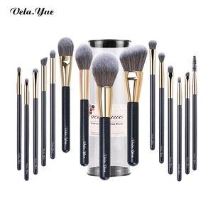 Image 1 - Set de brochas de maquillaje vela.yue, brocha de maquillaje sintética de viaje sin crueldad, Kit de herramientas de belleza, brocha de maquillaje en polvo, sombra de ojos de base, 15/4 Uds.