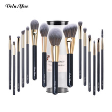 Vela.Yueแปรงแต่งหน้าชุดโหดร้ายฟรีสังเคราะห์Travel Make up Brush Beauty Tools Kit Powder Foundationอายแชโดว์ 15/4pcs