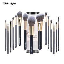 vela.yue Makeup Brushes Set Cruelty Free Synthetic Travel Make up Brush Beauty Tools Kit Powder Foundation Eyeshadow 15/4pcs