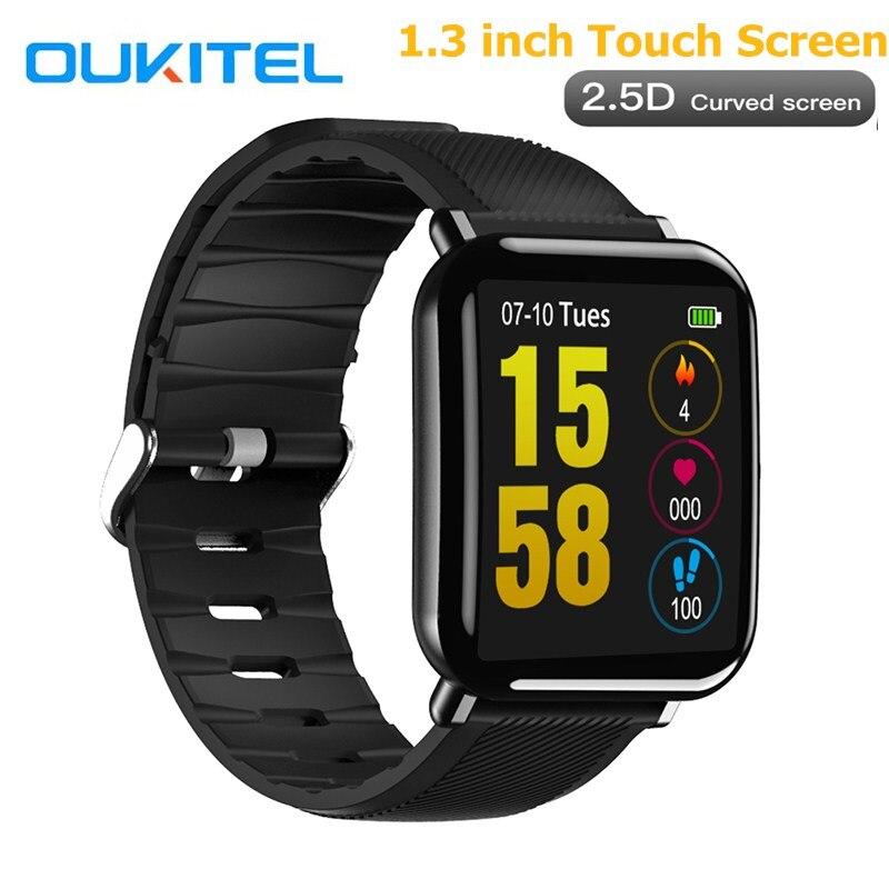 OUKITEL W2 Smart Uhr Herz Rate Schlaf Überwachung Schrittzähler Remote Kamera 1,3 zoll Sport IP67 Wasserdichte Uhr Für IOS Android