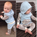 Newborn Baby Boy Clothes Set 2016 Autumn New Baby Clothing Set Christmas Baby Girls Long Sleeve Tops Hoodie Long Pants Hat 2pcs