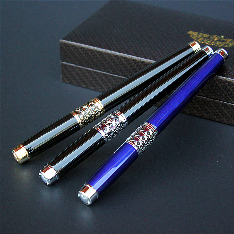 1PCS Gold silver  blue 3 color high-end luxury Roller Pen metal  gel pen writing smooth good quarity business gift creative business gift holiday gift pen writing pen gorgeous high end gift signature pen cute lady writing pen