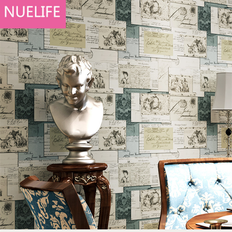 0.53x10 Meter American style alphabet stripes pattern nonwovens wallpaper cartoon children bedroom  living room wallpaper star wars alphabet style removable wallpaper