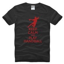 Halten Sie Ruhe Und Handball Brief Kreative Gedruckt Mens Männer-t-shirt T-shirt 2016 Neue Kurzarm O Ansatz Beiläufiges T-shirt T