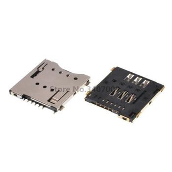 Micro SIM Card Connector MUP C792 Original 10pcs Socket Patch Self piercing 6 +1 P SIM Card Slot Socket YOINNOVATI Соединители      АлиЭкспресс