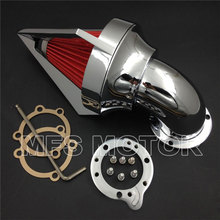 for Harley S&S custom CV EVO XL Sportster CHROME Cone Spike Air Cleaner intake Motorcycle Part цена