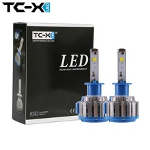 TC-X LED Car Headlight Bulbs H7 H1 H3 H11/H8/H9 HB3/9005 HB4/9006 H27 880 12V Error Free Super Bright Auto Lights Conversion Kit
