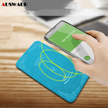 5W Universal Ultra Thin Slim PU Leather Wireless Charger for iPhone Samsung Huawei Xiaomi LG QI Wireless Charger Charging Pad