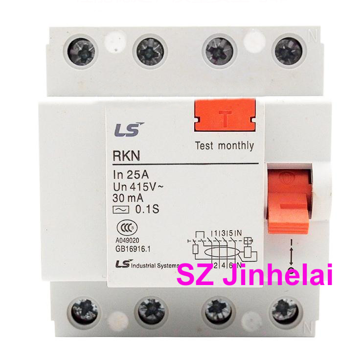 100%Authentic original RKN 4P LS Leakage circuit breaker RKN 3P+N Leakage protection switch RKN-3P+N 4P 25A/32A/40A/63A chnt chint leakage protector nbe7le 3p n 16a 20a 25a 32a 40a 63a small circuit breaker air switch