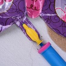 1 adet kullanışlı taşınabilir balon pompası balonlar şişme oyuncaklar ve folyo hava balon el pompası