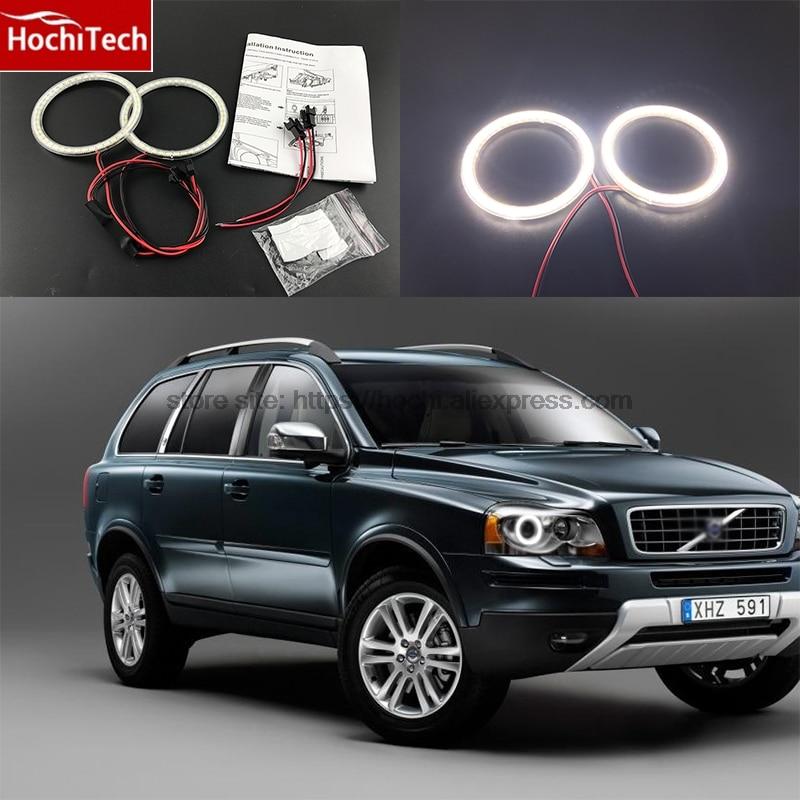 HochiTech Ultra bright SMD white LED angel eyes 2000LM 12V halo ring kit daytime running light DRL for Volvo XC90 2010-2013 цена