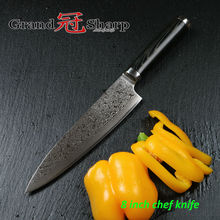 GRANDSHARP  8 Inch Chef Knife 67 Layers Japanese Damascus Stainless Steel VG-10 Core Micarta Handle Kitchen Tools Free Shipping
