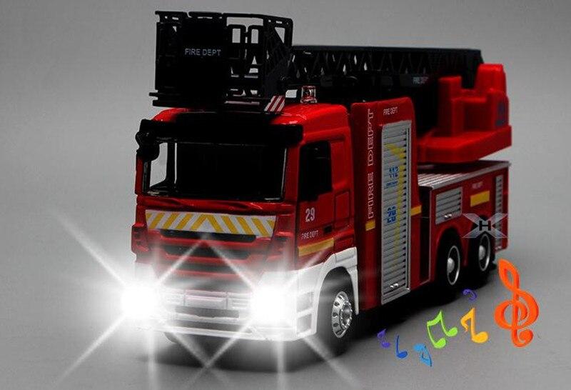 modello di auto Diecast POMPIERI TRUCK FIRE DEPARTMENT 12 CM metallo