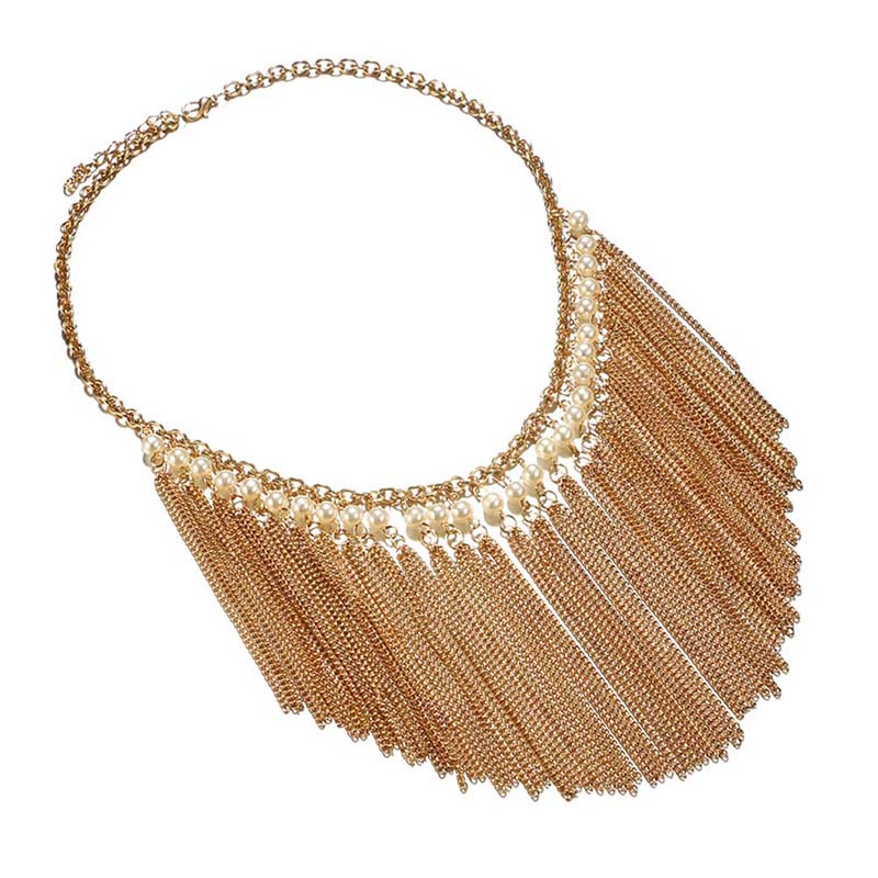 Hot Choker Fashion Fine Quality Tassels Short Necklace Pendents Clavicle Chain Women Jewerly For Women