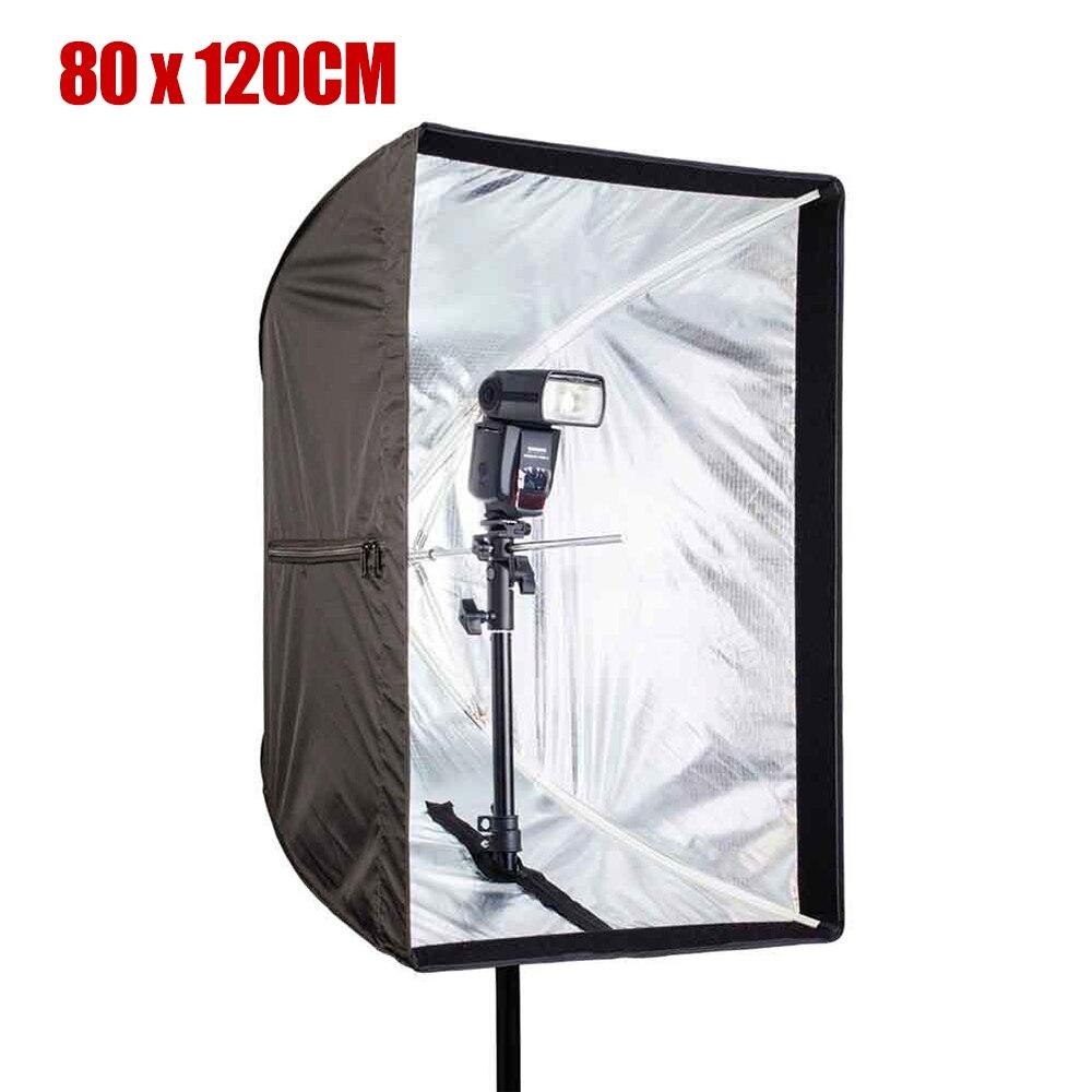 Grande taille 80 cm x 120 cm parapluie Softbox cadre Photo Studio Rectangle boîte souple pour tous les stroboscopes Flash éclairage