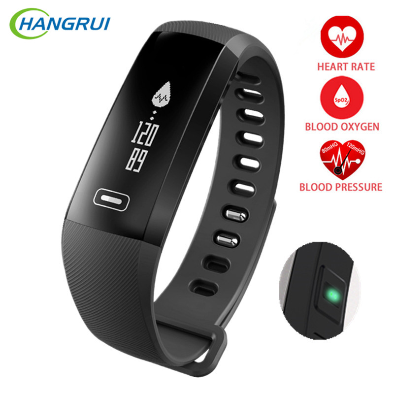 HANGRUI R5 Pro Smart Watches Blood Pressure Heart Rate Monitor Smart Bracelet Fitness Tracker Step Counters Oximeter Smart Band