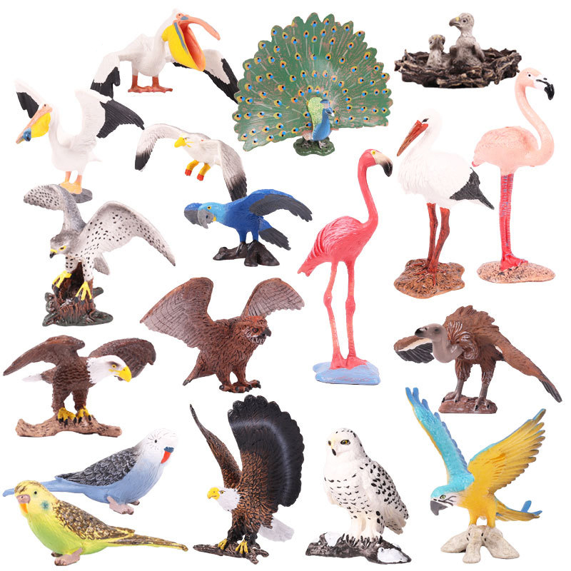 Toy Figure Bird Children Gift Collectible-Doll Pvc-Model Action Wildlife-Animal S