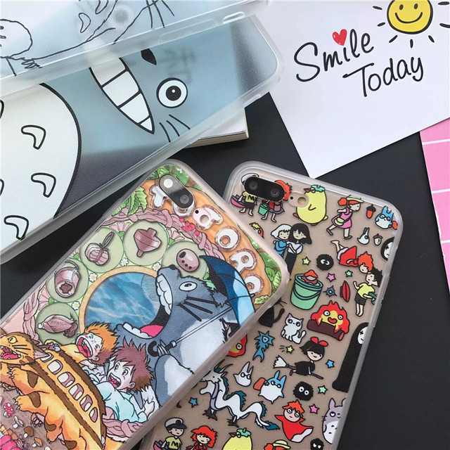 Totoro Phone Cases Fundas Coque for iPhone