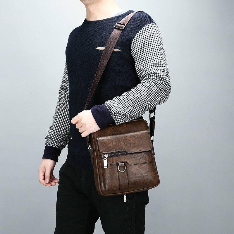 HTB1OsUBeUGF3KVjSZFoq6zmpFXaH New Men Briefcase Bags Business Leather Bag Shoulder Messenger Bags Work Handbag 14 Inch Laptop Bag Bolso Hombre Bolsa Masculina
