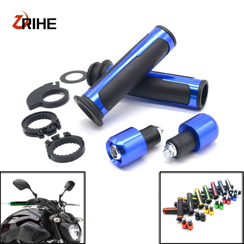 7/8 22mm Handlebar Sport Bike Motorcycle Rubber gel hand Grips For Kawasaki ZXR400 ZX1400 S Version ZZR1200 ZZR600