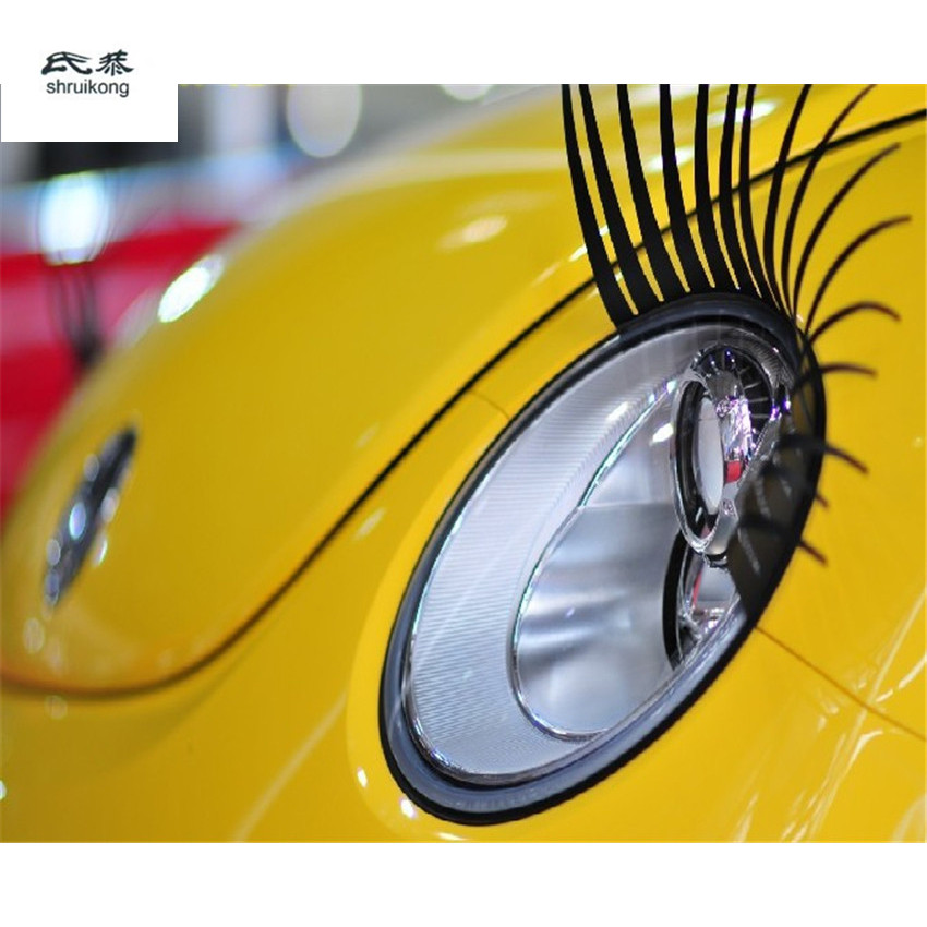The Car Stickers Of Car Eye Lashes Headlights Eyelashes For Toyota