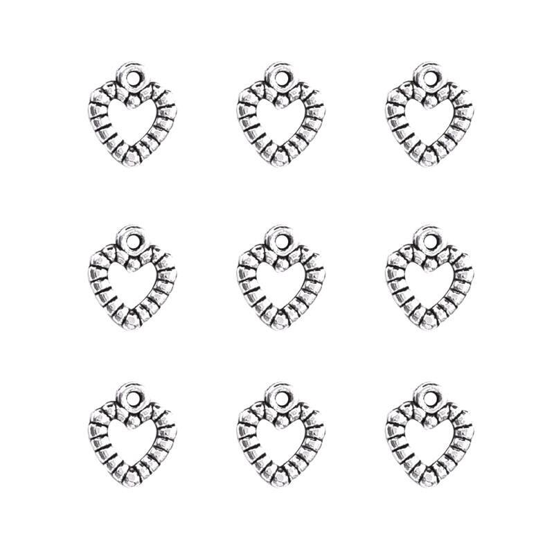 50 шт./лот звезда серебряного цвета крыло оболочки сердце подвеска фурнитура Подвески для изготовления ювелирных изделий ожерелье DIY аксессуары для изготовления браслетов