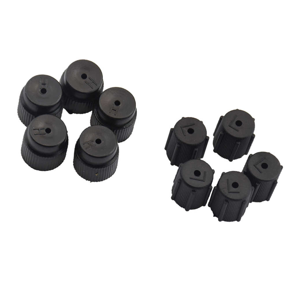 10Pieces Car Air Conditioning High and Low Valve Service Caps R134a 13mm 16mm