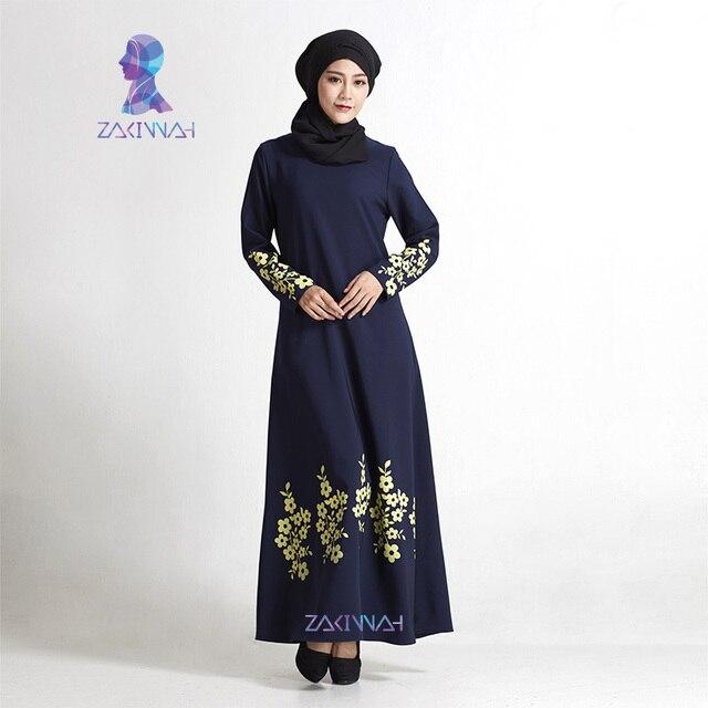c6e1ed6ccc New flower print plus size turkish women abaya dress Islamic clothing for women  fashion muslim dress