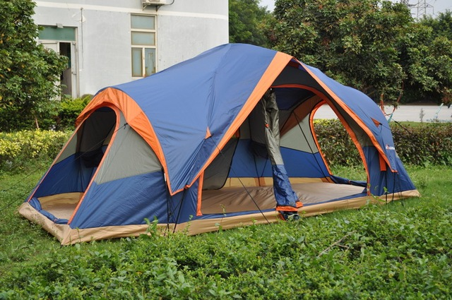 Authentic outdoor tent automatic quick opening 5-8 persons double camping and leisure activities