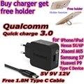 Tronsmart wc1t carga rápida 3.0 cargador usb 18 w voltiq rápido cargador de teléfono ue para xiaomi mi5 lg g5 nexus 5x6 p oneplus 3 huawei