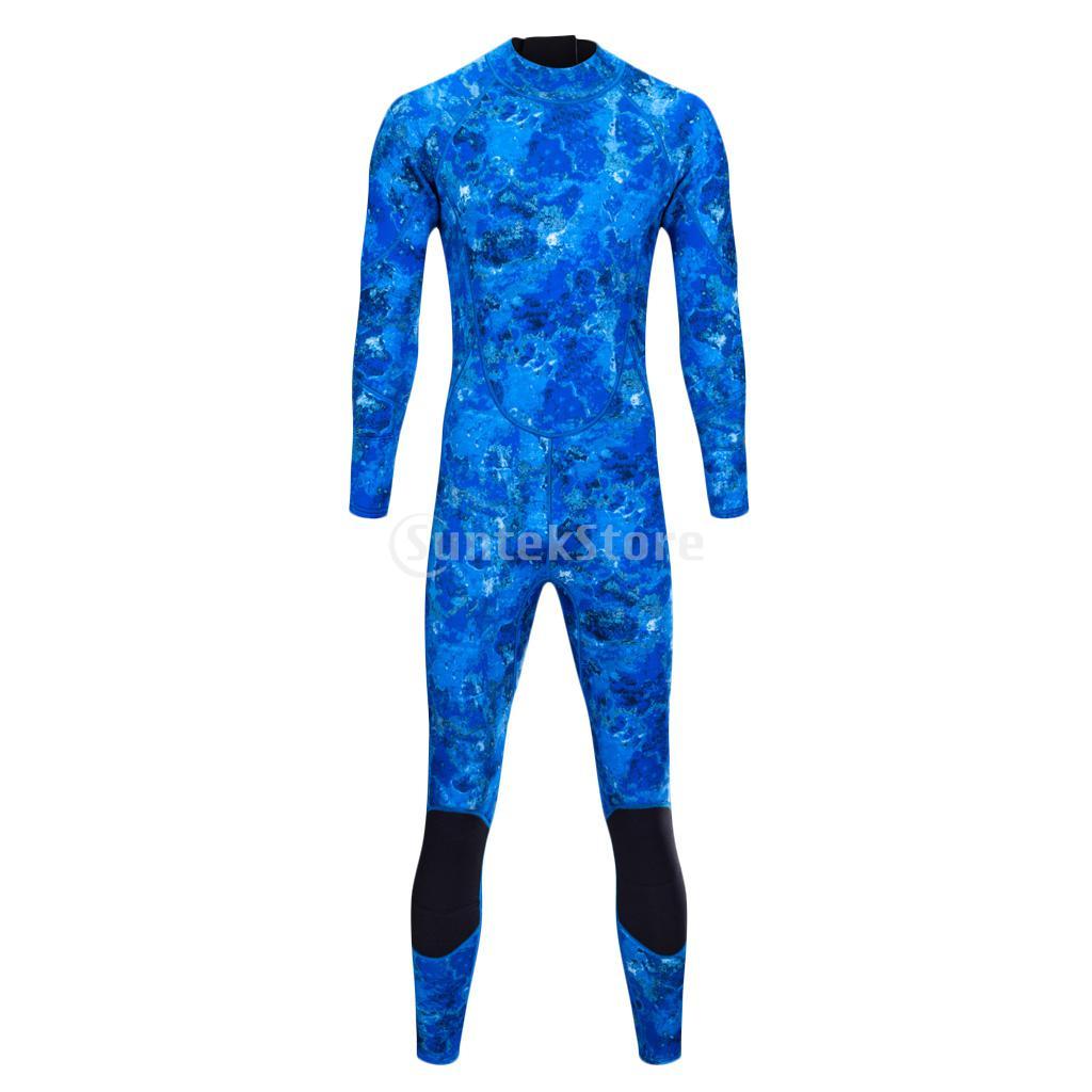 Professional 3mm Neoprene Men Wetsuit Scuba Diving Surfing Kayak Bodyboard Spearfishing Back Zip Warm Full Suit Swimwear S-XXL