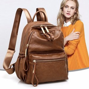 Image 3 - 2018 frauen Rucksack Hohe Qualität Rucksack PU Leder Mochila Escolar Vintage Taschen Rucksäcke Mode Daypack
