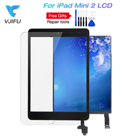 For iPad Mini 2 A1489 A1490 A1491 Mini2 Replacement LCD Display + Touch Screen Digitizer + Home Button+IC CHIP Black White