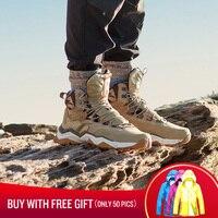 RAX Для мужчин Пеший Туризм обувь Mid top Водонепроницаемый открытый тапки Для мужчин кожаные Трекинговые ботинки Трейл кемпинг восхождение Ох