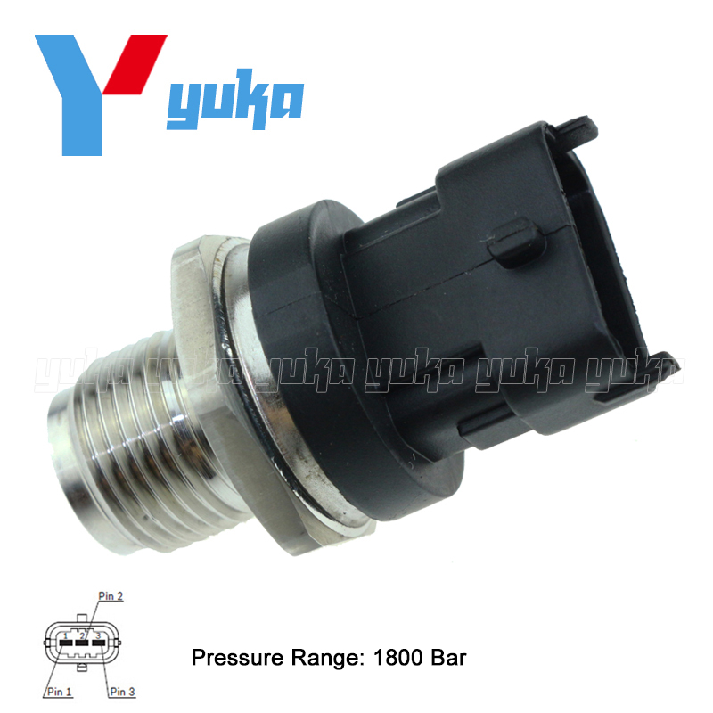 100% Test Fuel Rail High Pressure Sensor Common Injection Regulator Sender For BOSCH 0281002841 0 281 002 841  cr508 diesel common rail pressure tester and simulator for bosch delphi denso sensor test tool diagnostic tools high pressure