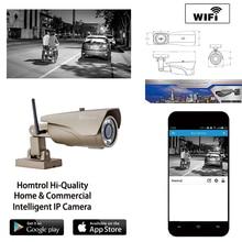Wi-fi Дома и На Открытом Воздухе Видеонаблюдения Пуля Ip-камера 42 привет питанием СИД ИК 1080 P Фокус Объектива и Бесплатное ПРИЛОЖЕНИЕ и программное обеспечение