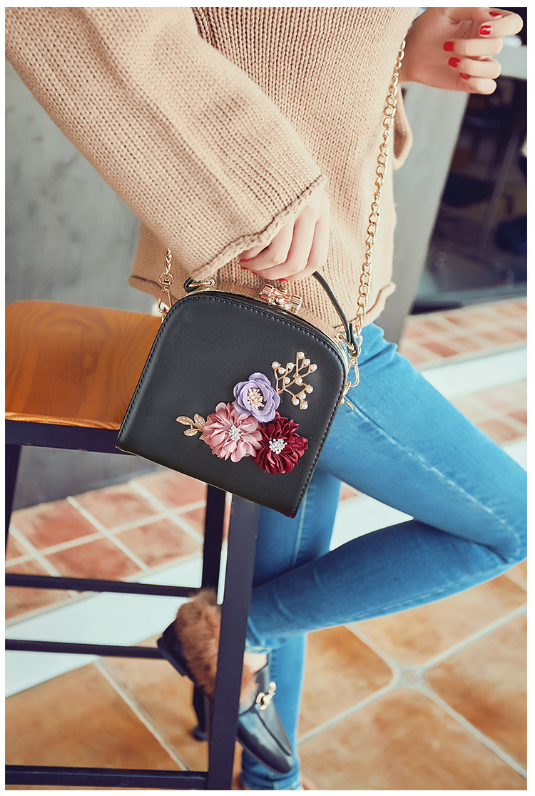 Women crossbody bag female messenger bag with long and short strap fashion designs flowers 48