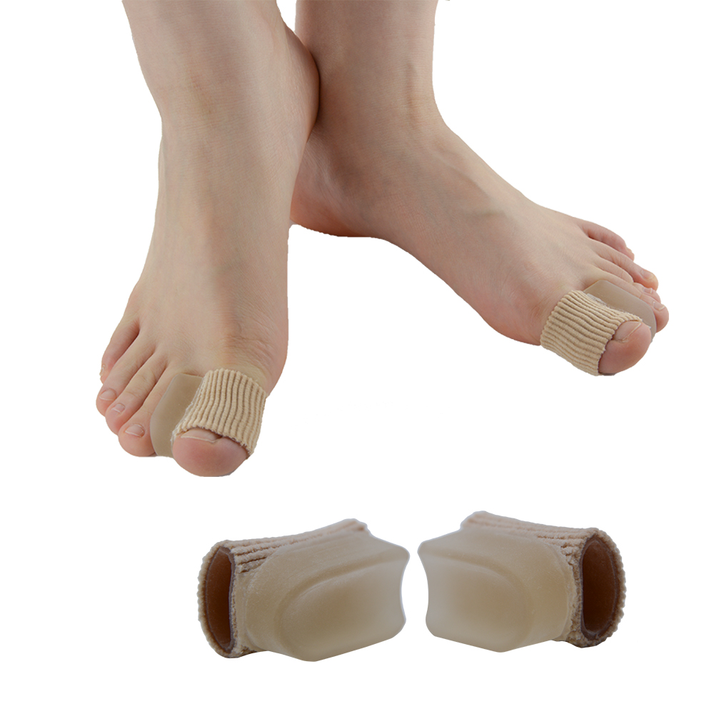 2Pcs Bunion Protector Pads Silikone Gel Toe Separator Thumb Valgus Protector Bunion Adjuster Smertefod Massage Z24301