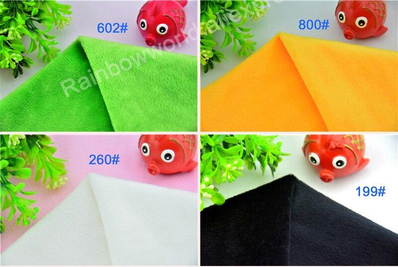 165# Red Color Super Soft Short Hair 2-3mm Fleece Fabric Velvet Microfiber Velboa for DIY Patchwork Toy Shoes Sofa Pillow
