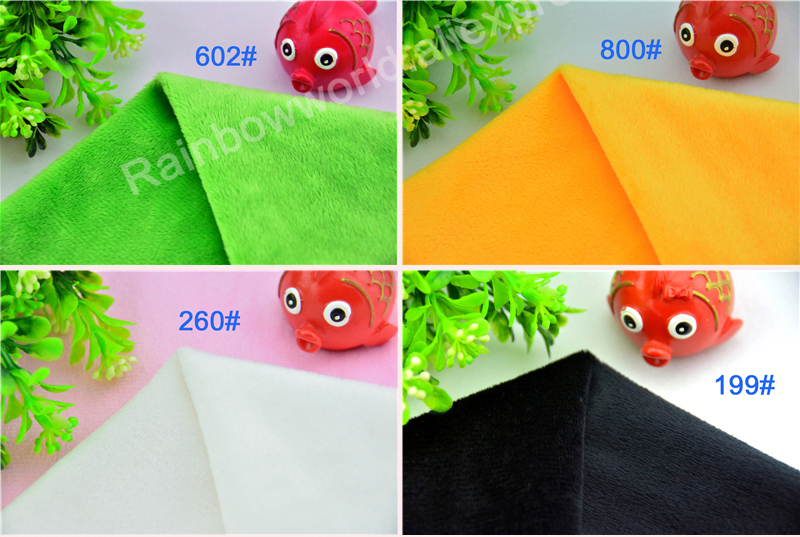 600# Light Green Color Super Soft Short Hair 2-3mm Fleece Fabric Velvet Microfiber Velboa for DIY Patchwork Toy Shoe Sofa Pillow