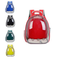 Transparent Peg Backpack Outdoor Carring PVC Window Bags Portable Carrier Breathable For Cat Small Dogs Putty Travel Bags Case
